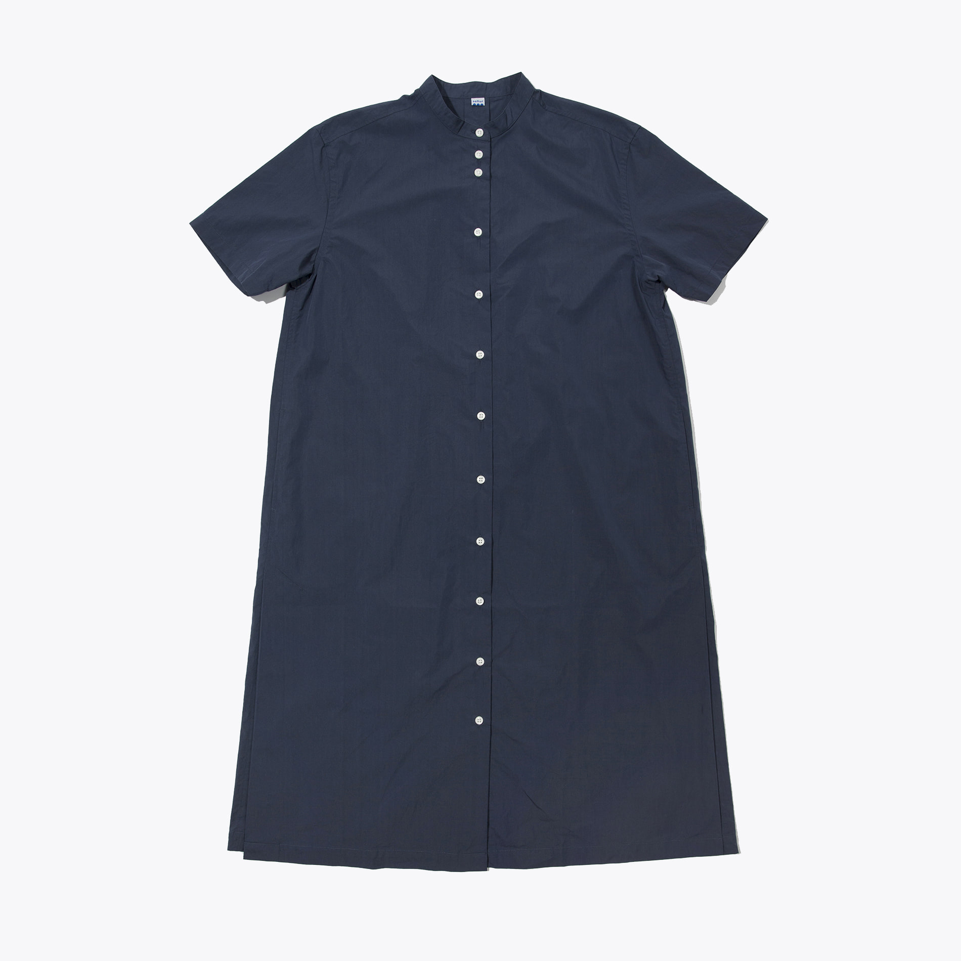 SHORT SLEEVES ONE-PIECE (NAVY)