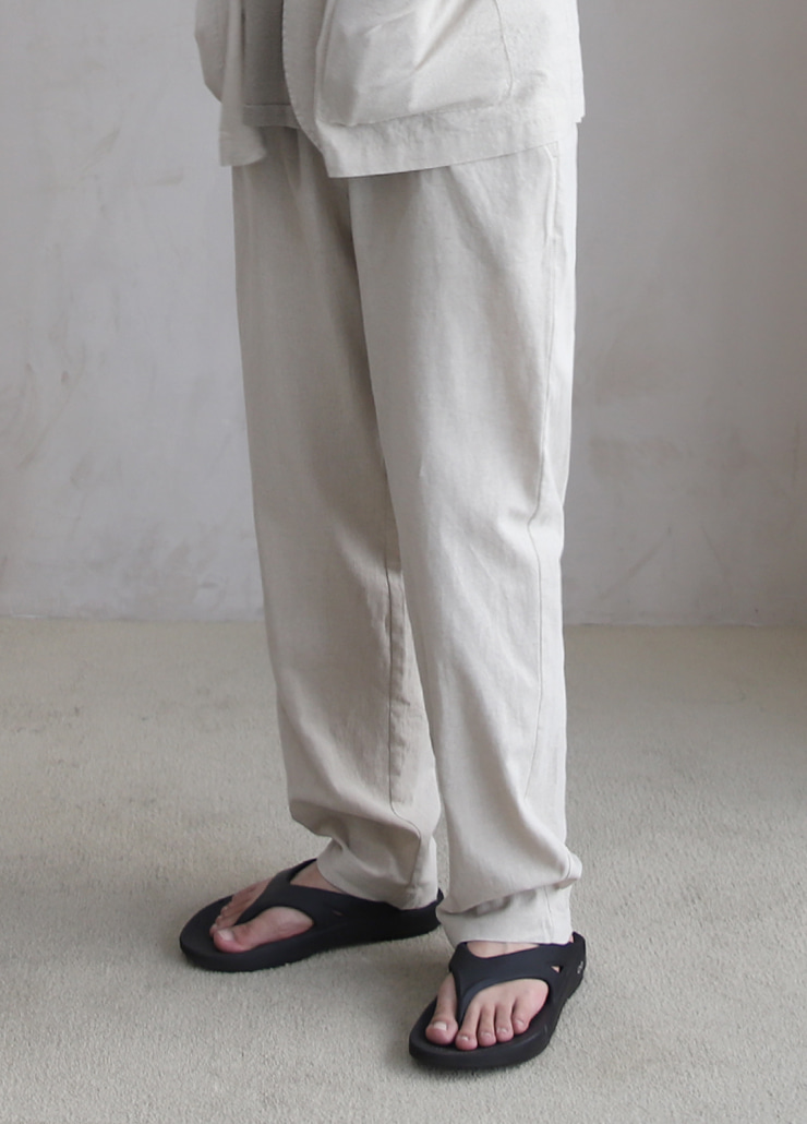 [7월7일예약발송] ALL WEATHE STANDARD PANTS IVORY (LINNEN)