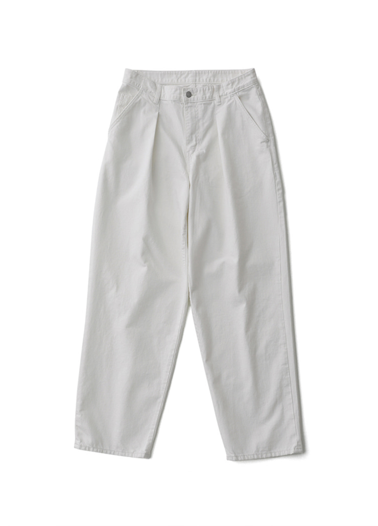 One Tuck Big Denim (Cream)