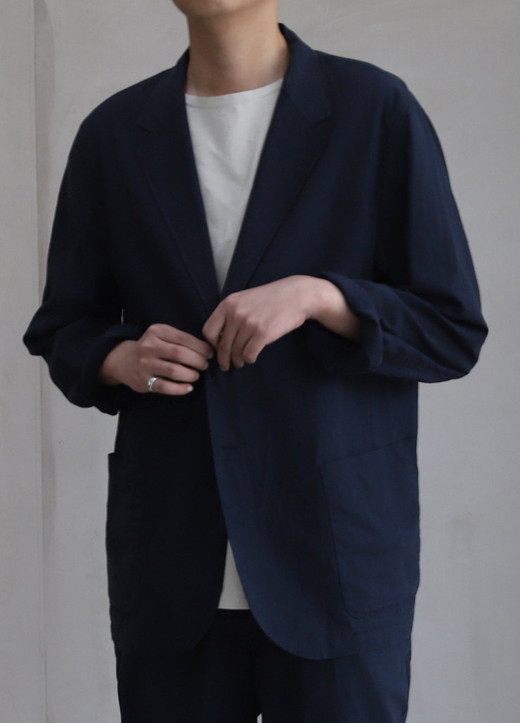 ALL WEATHE STANDARD JACKET NAVY (LINNEN)